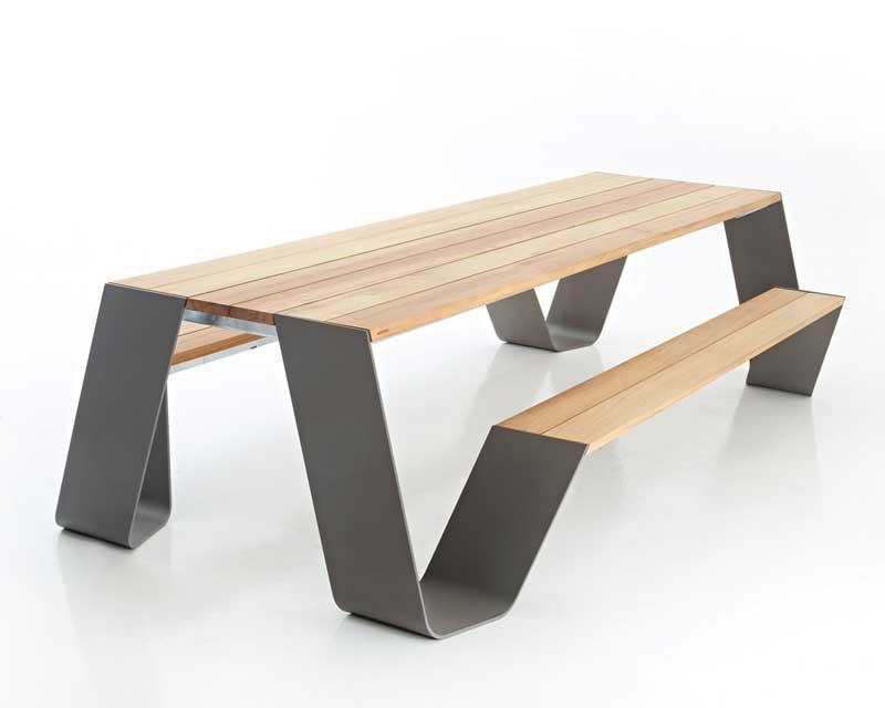 Peachy Modern Picnic Table Extremis Hopper Contemporary Picnic Table Customarchery Wood Chair Design Ideas Customarcherynet