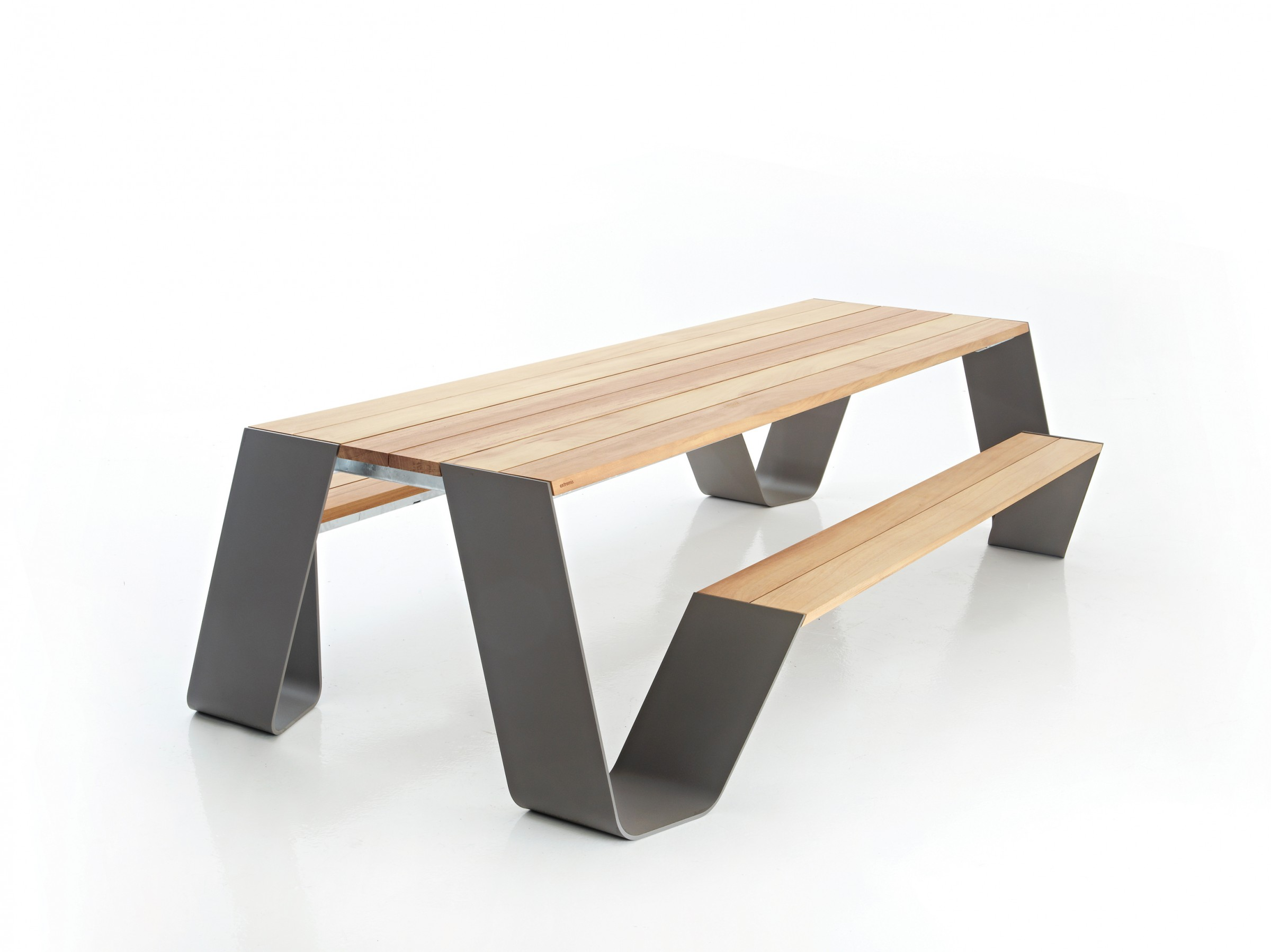 Modern Picnic Table - Extremis Hopper Contemporary Picnic Table